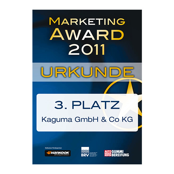 Marketing Award 2011 3 Platz Kaguma GbmH